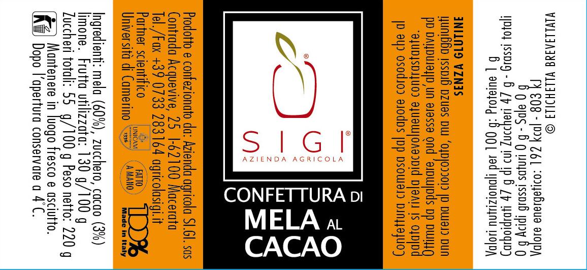 Confett. di MELA AL CACAO 98x45 MadeITALY