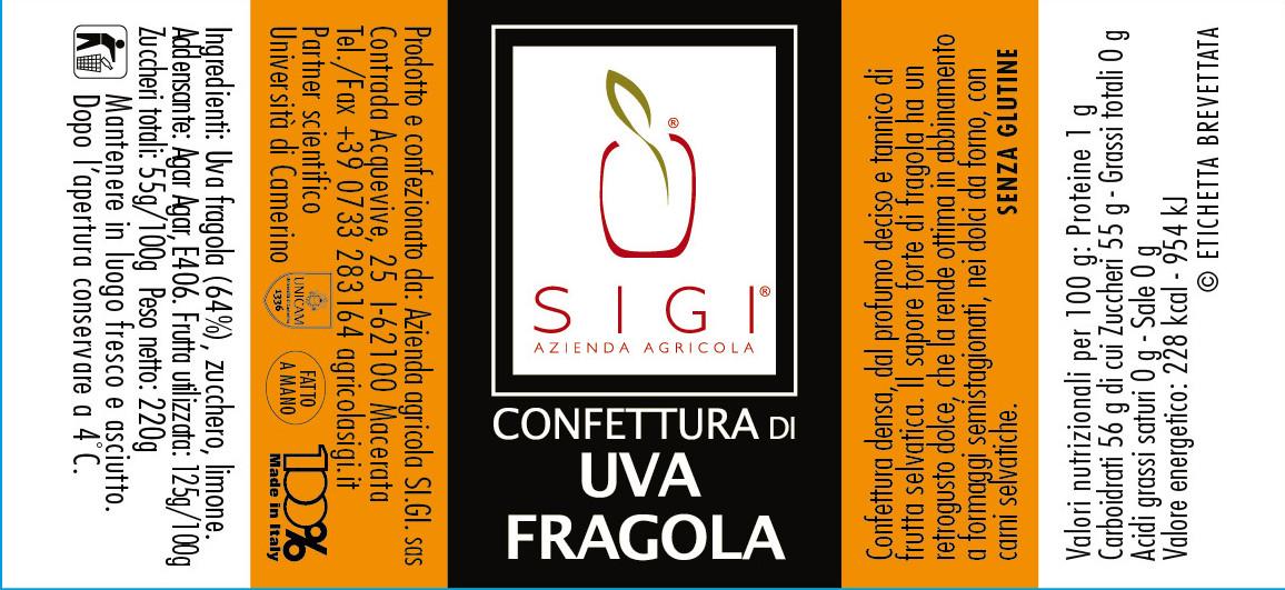 Confett. di UVA FRAGOLA  MadeITALY