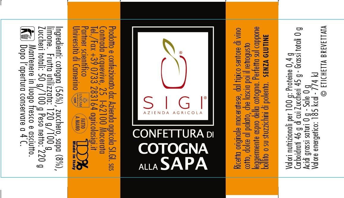 Confett. di cotognasapa MadeITALY