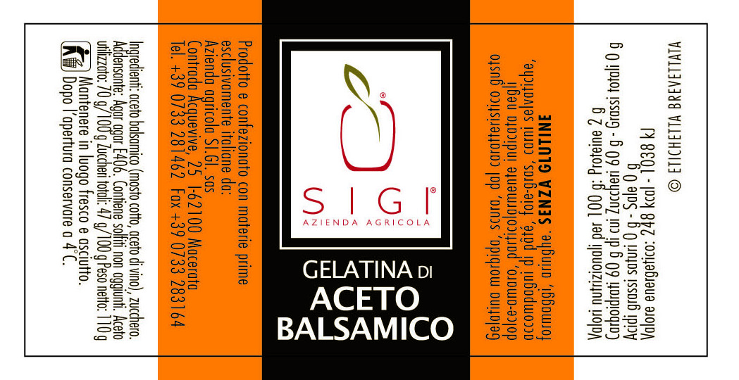 gelat ACETO BALSAMICO