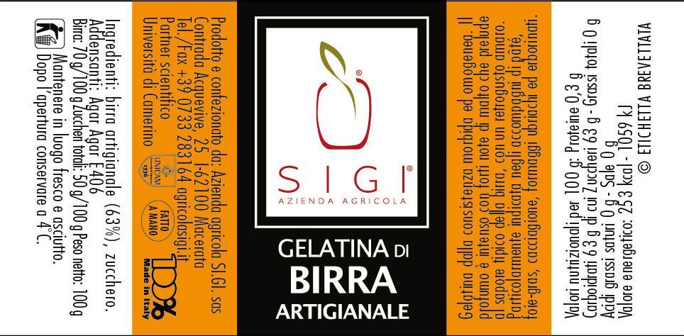 gelatina di BIRRA  MadeItaly