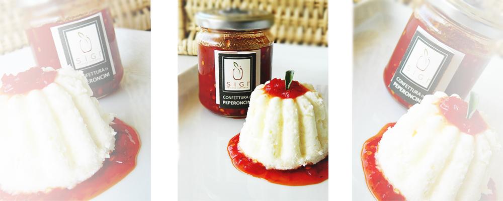 Parfait di Asiago dolce D.O.P. con confettura di peperoncino
