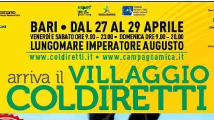 (Italiano) SiGi nel Villaggio Coldiretti a Bari 27-29 Aprile Lungomare Imperatore Augusto