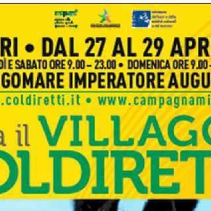 SiGi nel Villaggio Coldiretti a Bari 27-29 Aprile Lungomare Imperatore Augusto